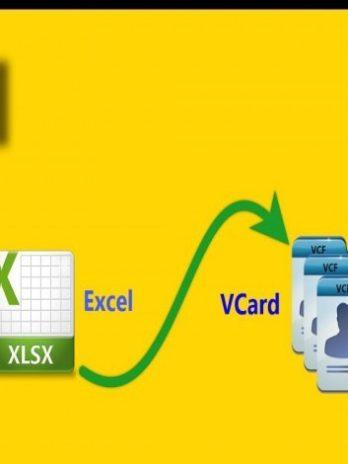 تحويل أرقام الهواتف من ملف إكسل إلى جهات اتصال vcf